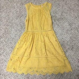 Pretty yellow lace dress